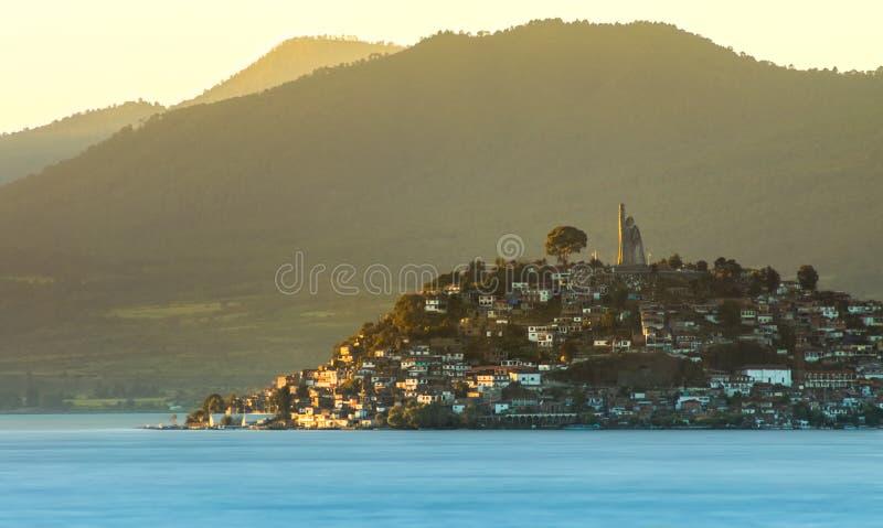 Νησί Janitzio, Patzcuaro, Michoacan, Μεξικό στοκ εικόνα με δικαίωμα ελεύθερης χρήσης