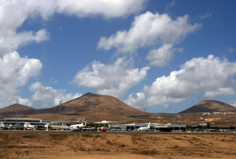 νησί Lanzarote αερολιμένων στοκ φωτογραφίες με δικαίωμα ελεύθερης χρήσης