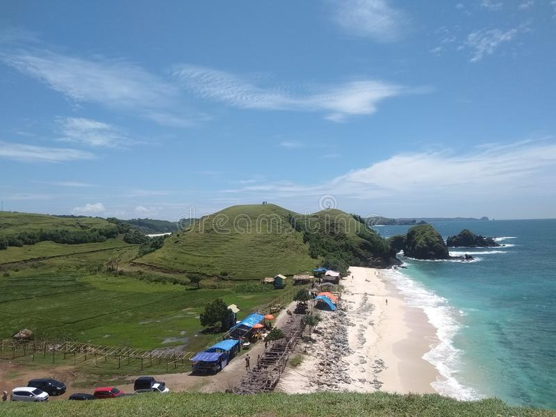 Νησί Lombok παραλιών Seger στοκ φωτογραφίες