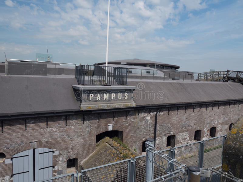 Νησί Pampus φρουρίων στις Κάτω Χώρες στοκ εικόνες