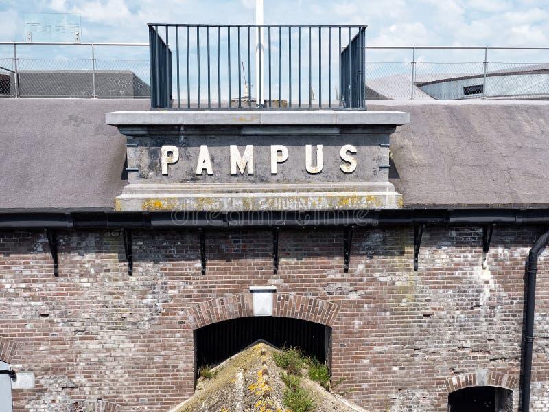 Νησί Pampus φρουρίων στις Κάτω Χώρες στοκ φωτογραφίες