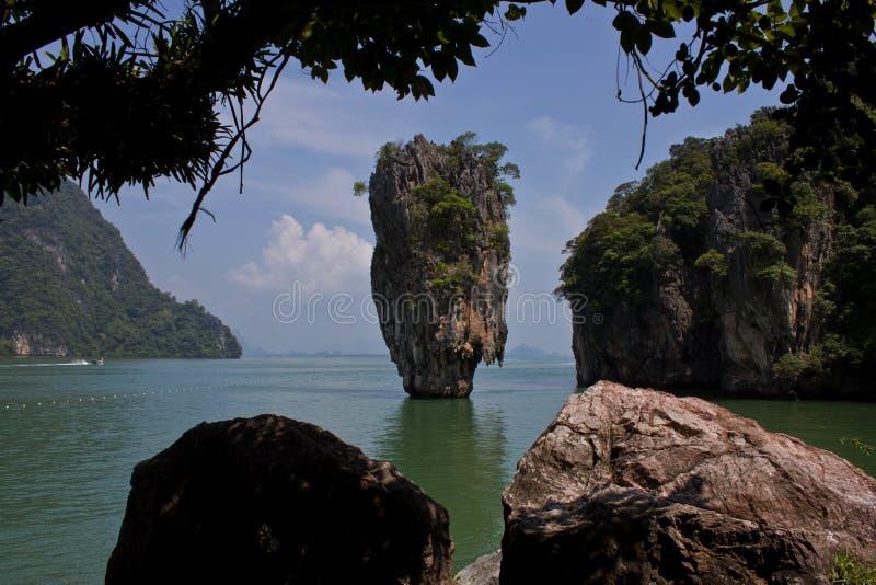 Νησί Pilon de James Bond στην Ταϊλάνδη στοκ φωτογραφία