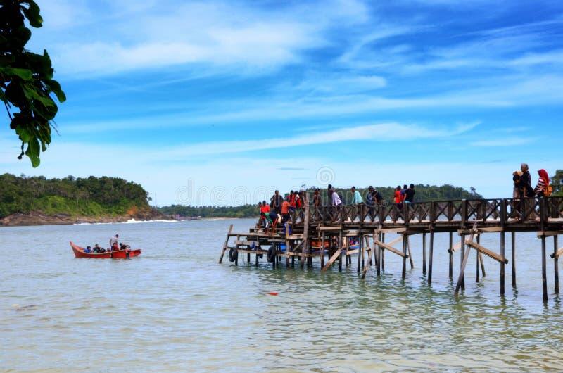 Νησί Reusam επίσκεψης στοκ εικόνες