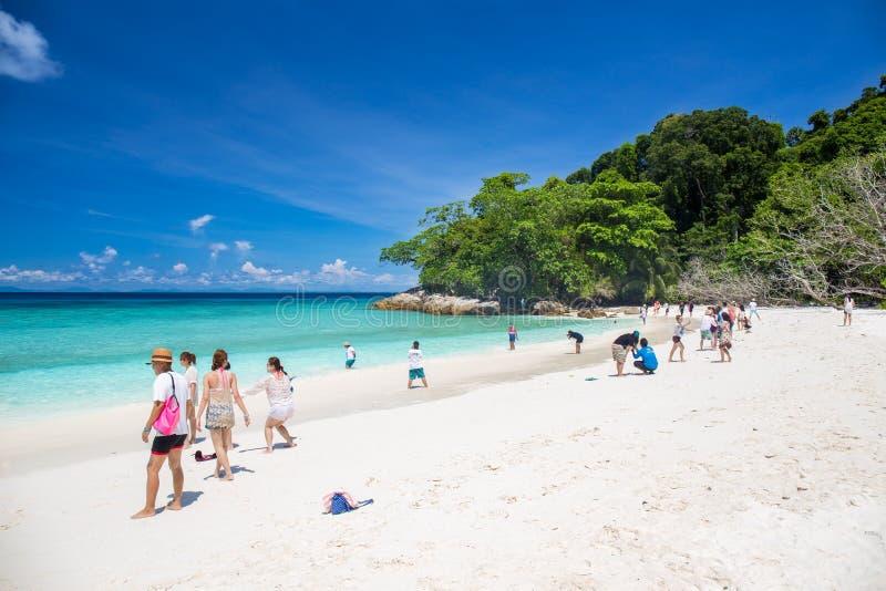 Νησί Tachai, Phang Nga, ΤΑΪΛΑΝΔΗ 6 Μαΐου: Φύση διακοπών προορισμού ανθρώπων τουριστών νησιών Tachai διασημότερη όμορφη στοκ φωτογραφίες με δικαίωμα ελεύθερης χρήσης