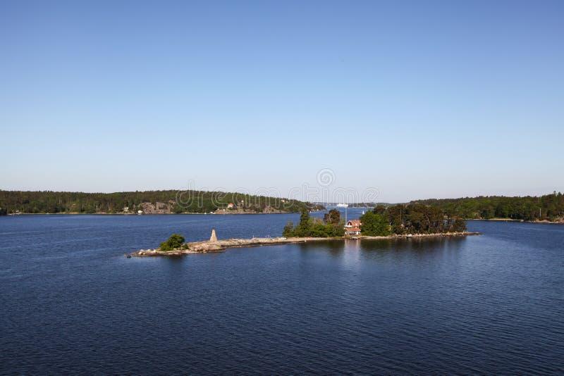Νησιά στο αρχιπέλαγος της Στοκχόλμης στοκ εικόνα