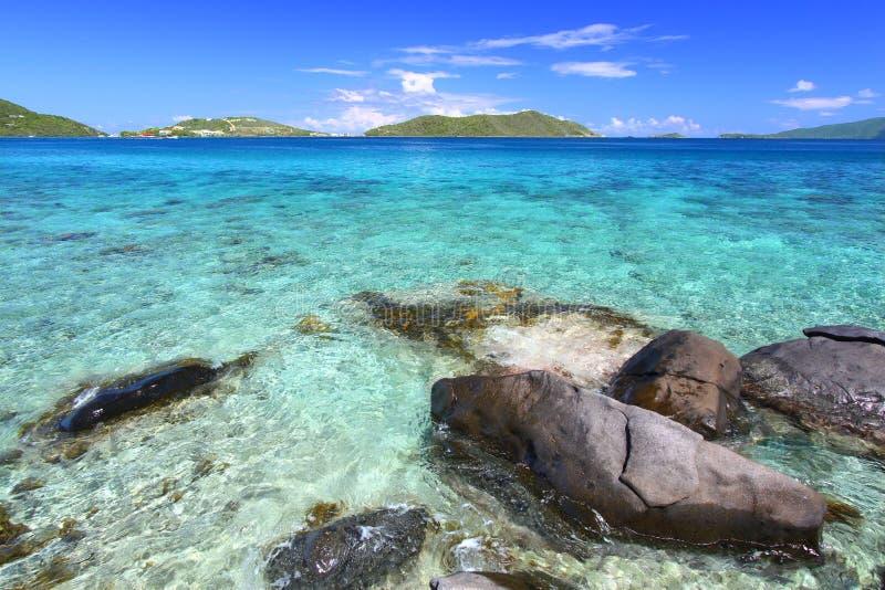 νησιά Virgin ακτών στοκ φωτογραφίες