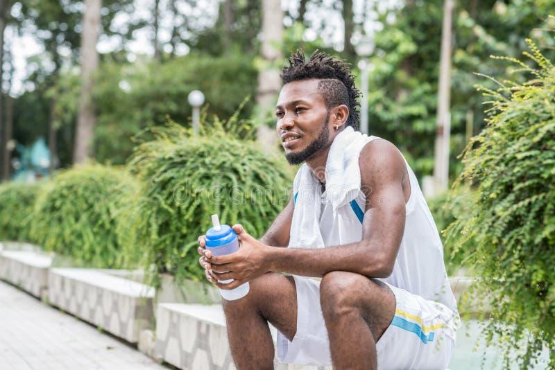 Νιγηριανό jogger στοκ φωτογραφία