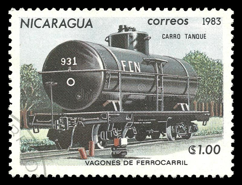 Νικαράγουα, δεξαμενή αυτοκινήτων σιδηροδρόμων στοκ φωτογραφίες
