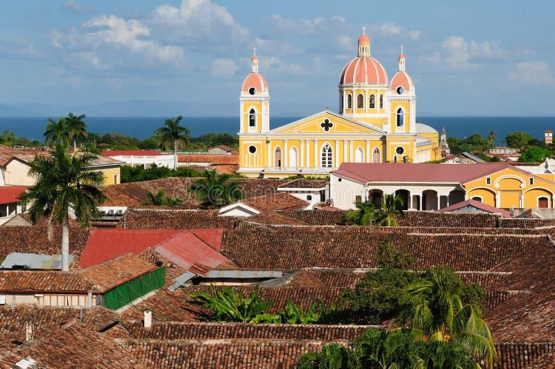 Νικαράγουα, όψη στην παλαιά Γρανάδα στοκ εικόνες