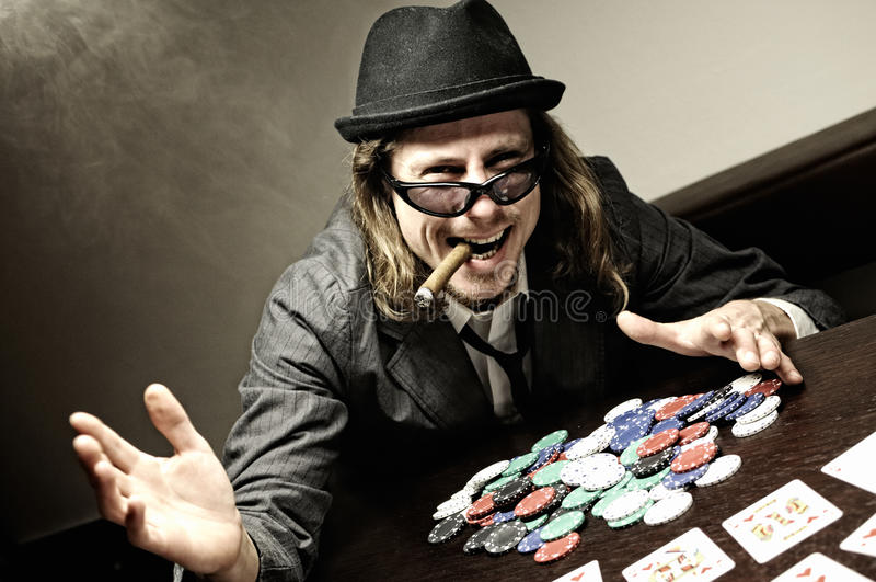 νικητής πόκερ στοκ εικόνες