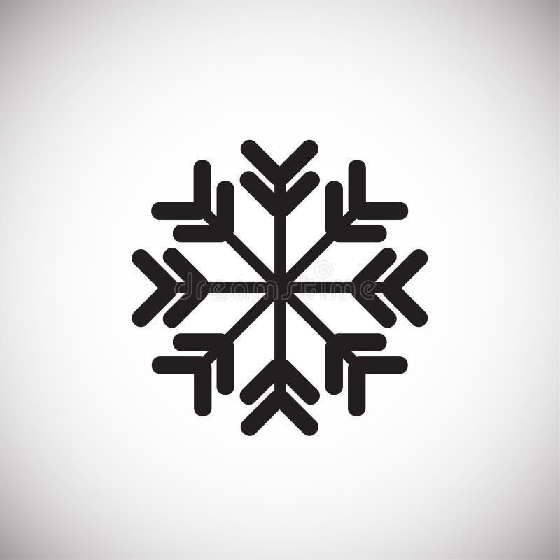 Νιφάδα χιονιού στο άσπρο υπόβαθρο διανυσματική απεικόνιση
