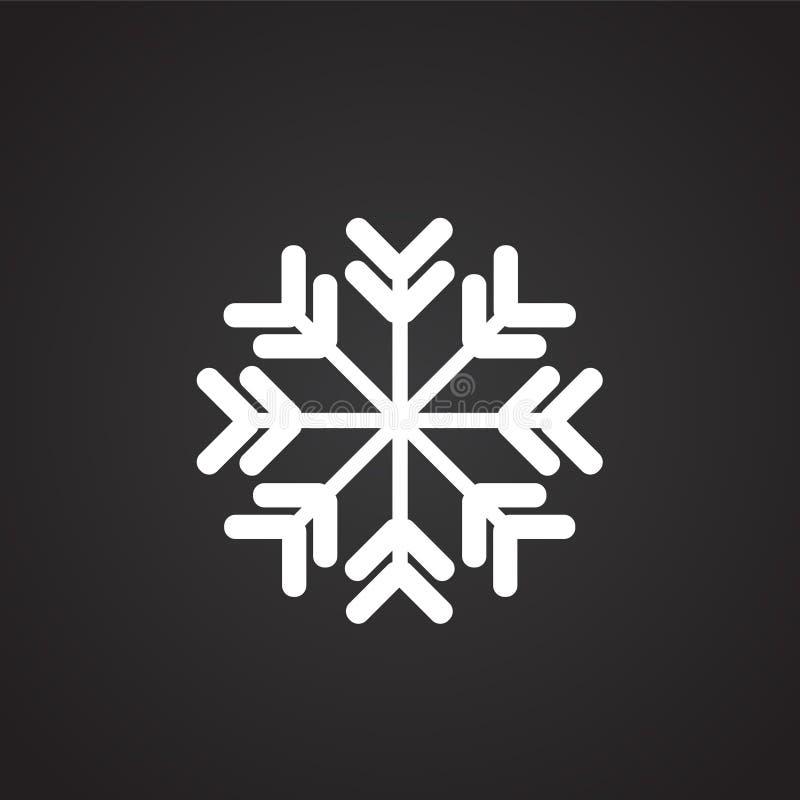 Νιφάδα χιονιού στο μαύρο υπόβαθρο απεικόνιση αποθεμάτων