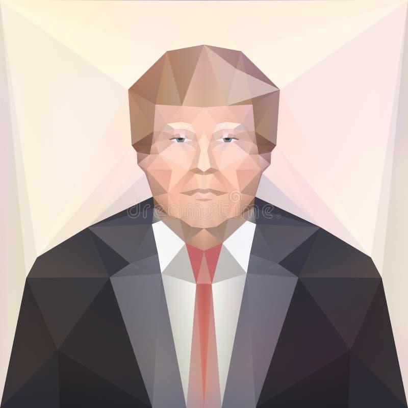 7 Νοεμβρίου 2016 ΑΜΕΡΙΚΑΝΙΚΟΣ προεδρικός υποψήφιος Ντόναλντ Τραμπ εκδοτικός διανυσματική απεικόνιση