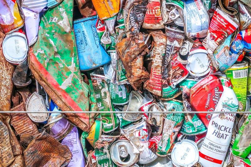 27 ΝΟΕΜΒΡΊΟΥ 2018, PRACHINBURI, ΤΑΪΛΆΝΔΗ: Πιεσμένο bevera αργιλίου στοκ φωτογραφία με δικαίωμα ελεύθερης χρήσης