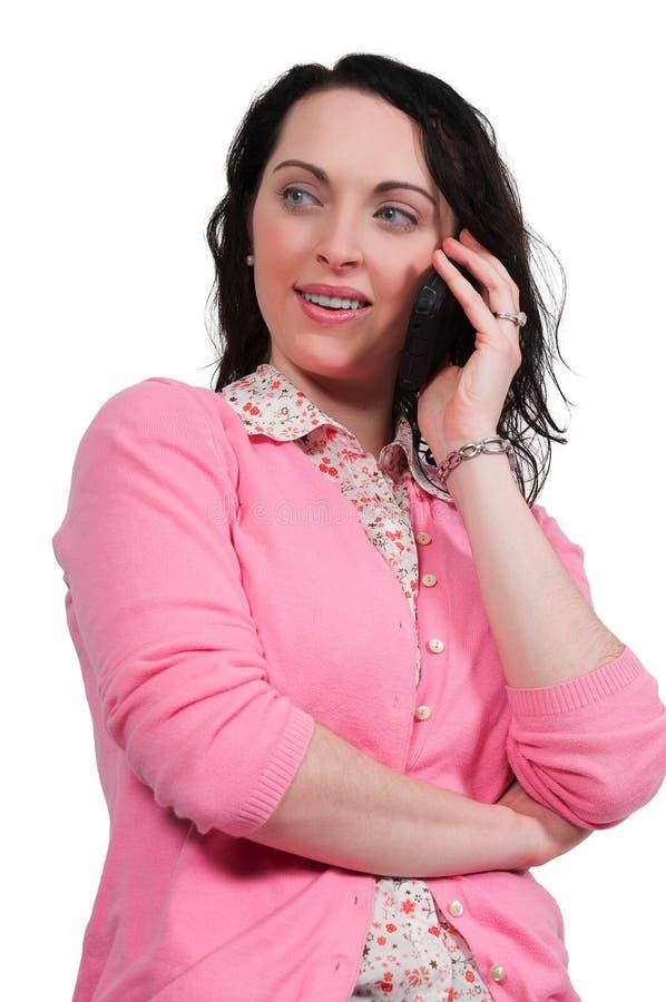 Νοικοκυρά στο τηλέφωνο στοκ εικόνα με δικαίωμα ελεύθερης χρήσης