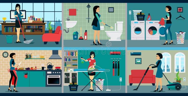 Νοικοκυρά απεικόνιση αποθεμάτων