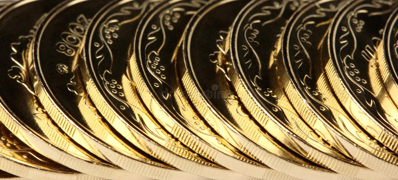 νομίσματα ανασκόπησης χρ&upsilon στοκ εικόνες
