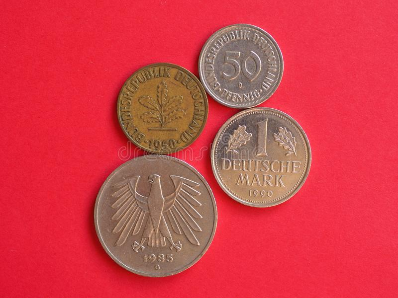 νομίσματα Γερμανικών Μάρκων από τη Γερμανία στοκ φωτογραφία με δικαίωμα ελεύθερης χρήσης