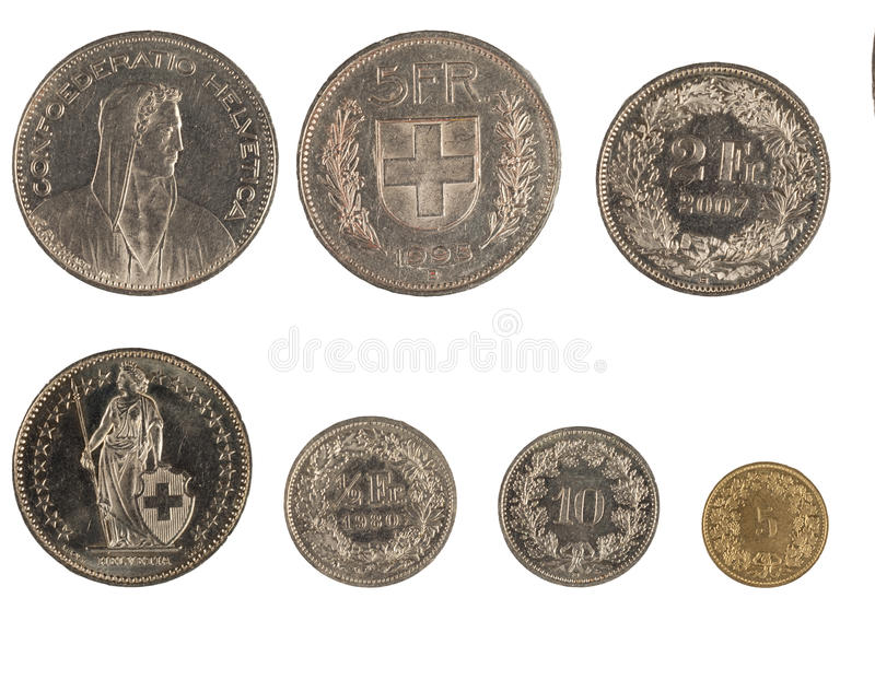 Download νομίσματα Ελβετός στοκ εικόνες. εικόνα από closeup, χρήματα - 17050490