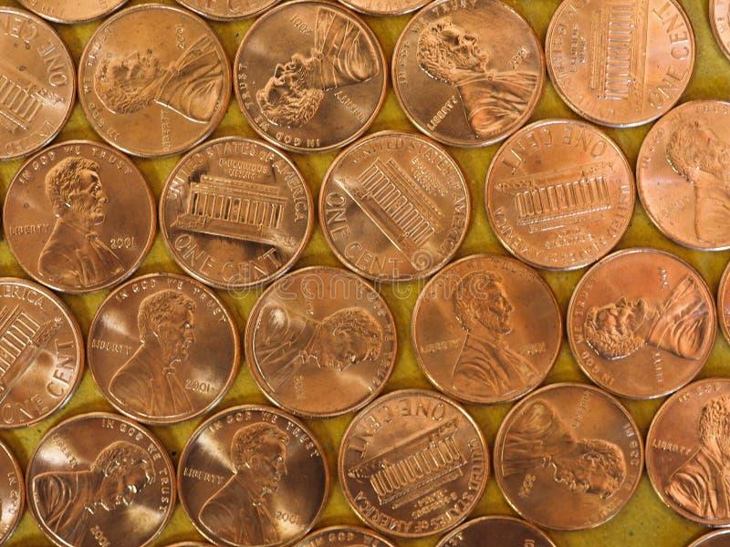 Νομίσματα ενός δολαρίου σεντ, Ηνωμένες Πολιτείες στοκ εικόνες με δικαίωμα ελεύθερης χρήσης