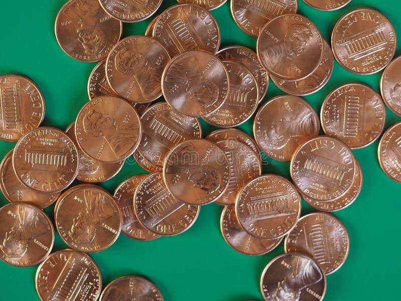 Νομίσματα ενός δολαρίου σεντ, Ηνωμένες Πολιτείες στοκ φωτογραφίες με δικαίωμα ελεύθερης χρήσης