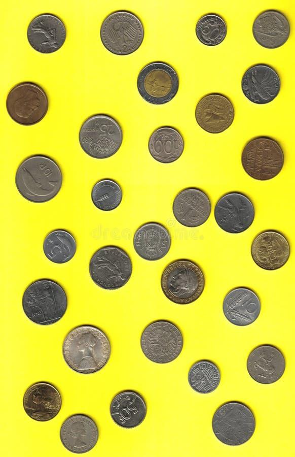 νομίσματα ευρωπαϊκά στοκ φωτογραφίες