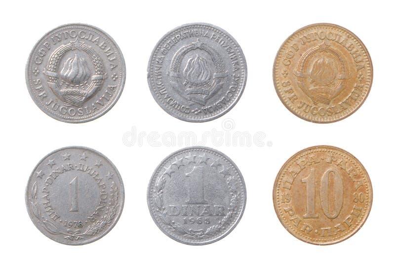 νομίσματα παλαιά στη Γιουγκοσλαβία στοκ εικόνα