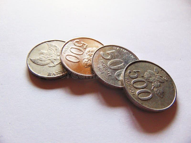 Νομίσματα ρουπίων στοκ εικόνα