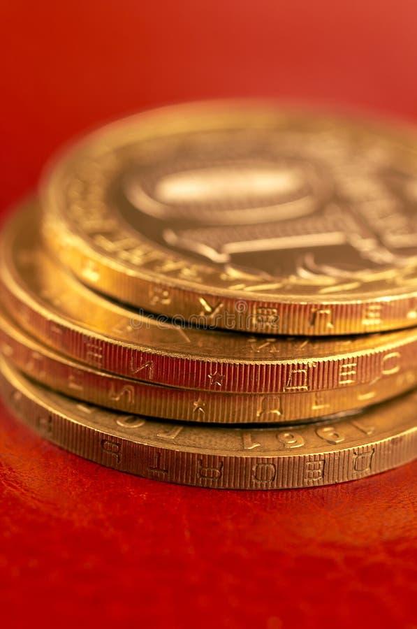 Download νομίσματα ρωσικά στοκ εικόνες. εικόνα από μακροεντολή, χέρι - 395296