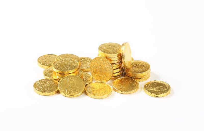 Νομίσματα σοκολάτας στοκ φωτογραφίες με δικαίωμα ελεύθερης χρήσης