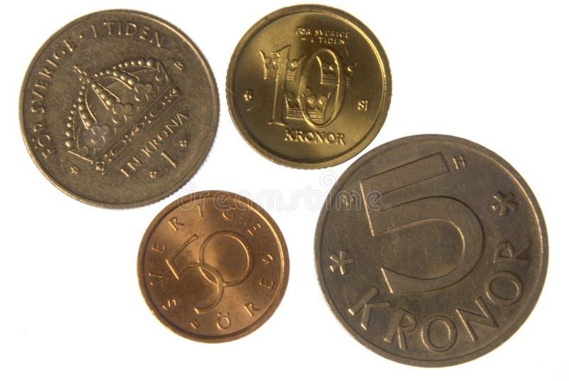 νομίσματα σουηδικά στοκ φωτογραφία