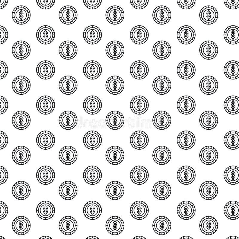 Νομίσματα σχεδίων σκιαγραφιών με το σύμβολο δολαρίων μέσα απεικόνιση αποθεμάτων