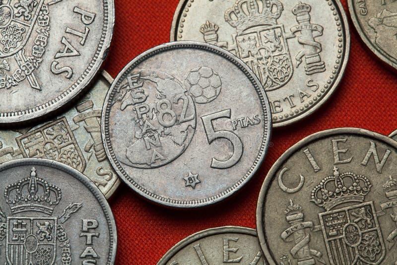 Νομίσματα της Ισπανίας 1982 Παγκόσμιο Κύπελλο της FIFA στοκ εικόνες