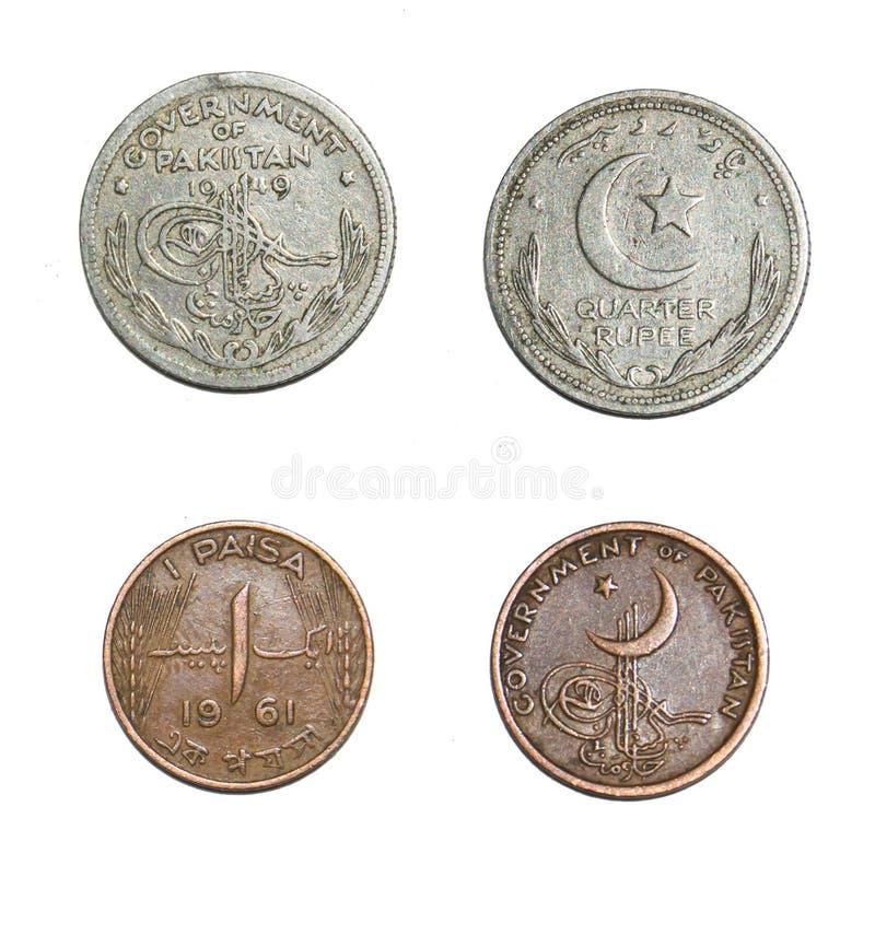 Νομίσματα του Πακιστάν στοκ εικόνες