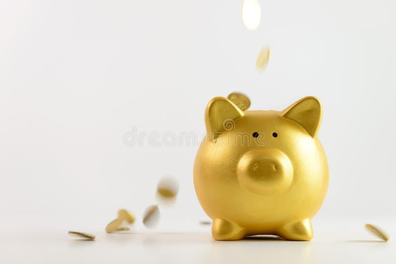 νομίσματα τραπεζών που πέφτ& στοκ εικόνα με δικαίωμα ελεύθερης χρήσης
