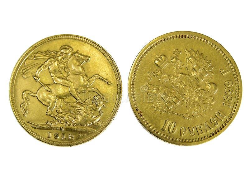 νομίσματα χρυσά στοκ εικόνα