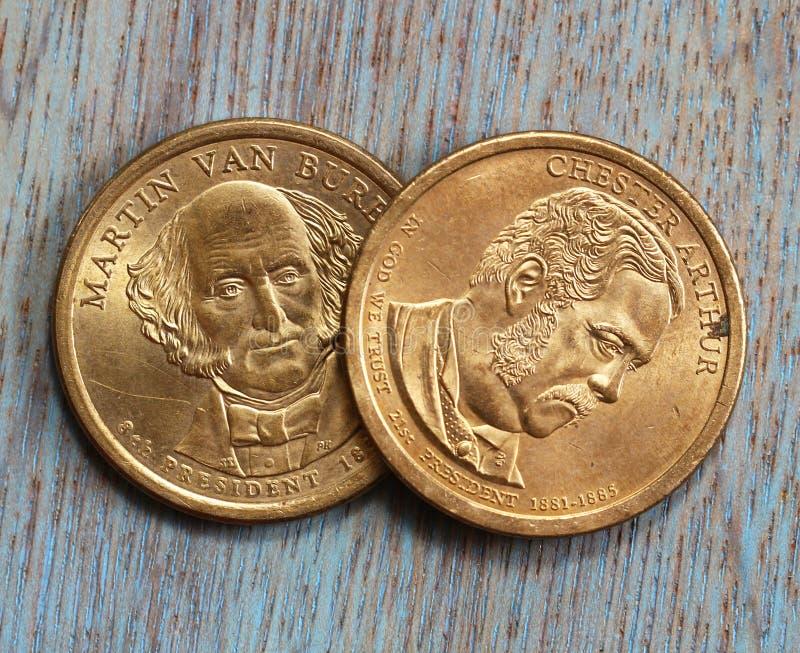 Νομίσματα δύο δολαρίων στοκ φωτογραφίες