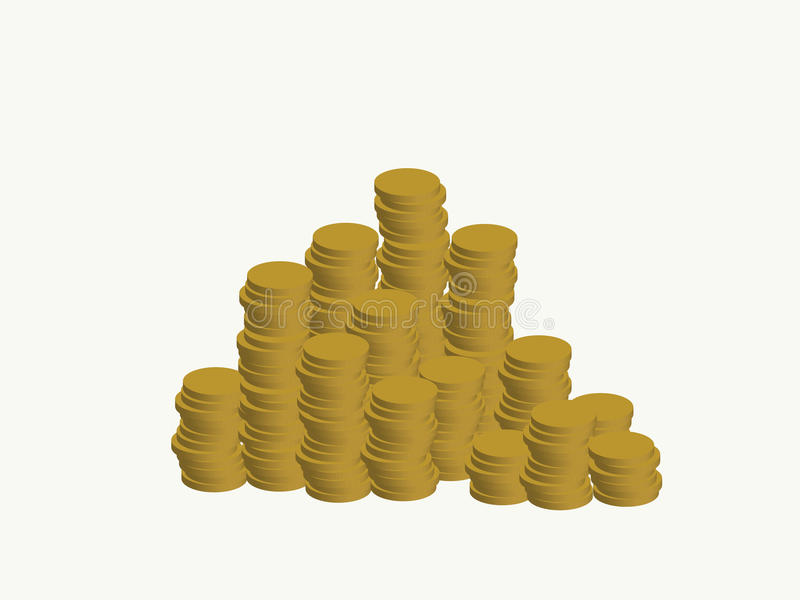 Νομίσματα απεικόνιση αποθεμάτων