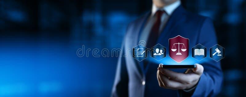 Νομική έννοια τεχνολογίας επιχειρησιακού Διαδικτύου δικηγόρων Εργατικού νόμου στοκ εικόνα