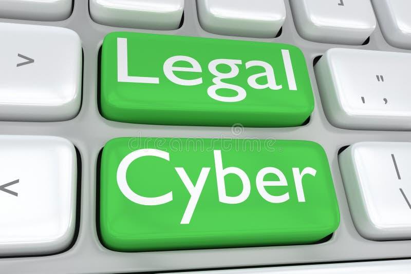 Νομική έννοια Cyber διανυσματική απεικόνιση