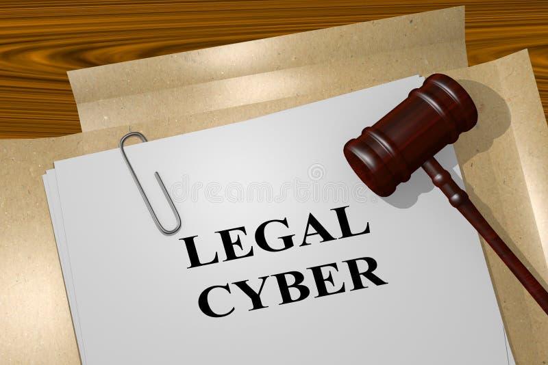 Νομική έννοια Cyber ελεύθερη απεικόνιση δικαιώματος