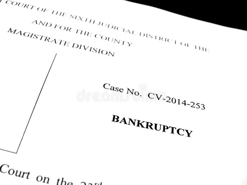 Νομική αρχειοθέτηση πτώχευσης δίκης εγγράφων στοκ φωτογραφίες