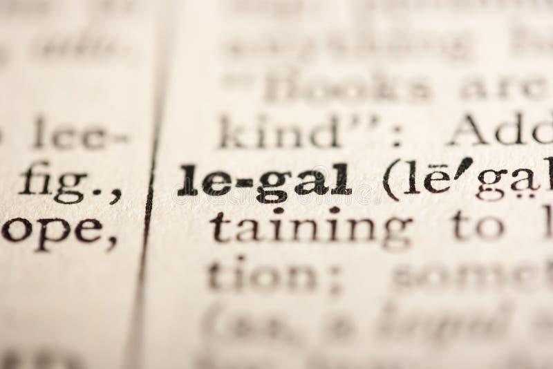 νομική λέξη στοκ εικόνες
