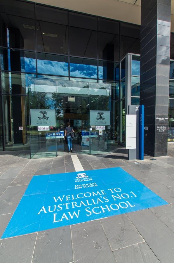 Νομική Σχολή της Μελβούρνης στο πανεπιστήμιο της Μελβούρνης στοκ εικόνες