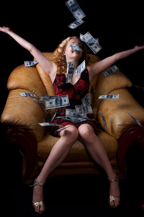 νομισματική βροχή στοκ φωτογραφίες