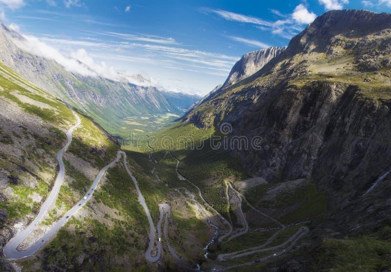 Νορβηγία Σκανδιναβία Ταξίδι Δρόμος Trollstigen στοκ εικόνα με δικαίωμα ελεύθερης χρήσης