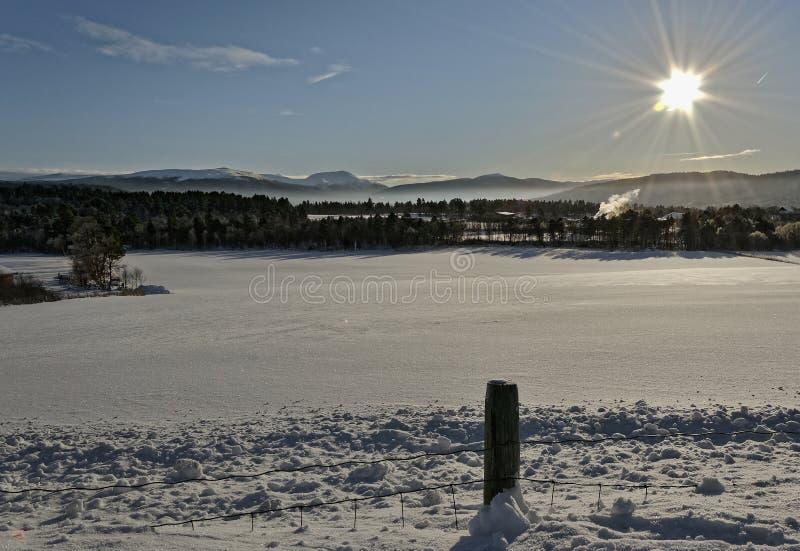 Νορβηγία το χειμώνα στοκ εικόνα