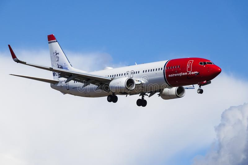 Νορβηγική σαΐτα ASA, Boeing 737 αέρα - 8JP στοκ φωτογραφία