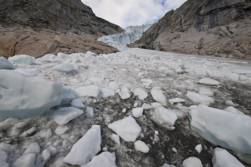 Νορβηγικός παγετώνας Jostedalsbreen στοκ εικόνες