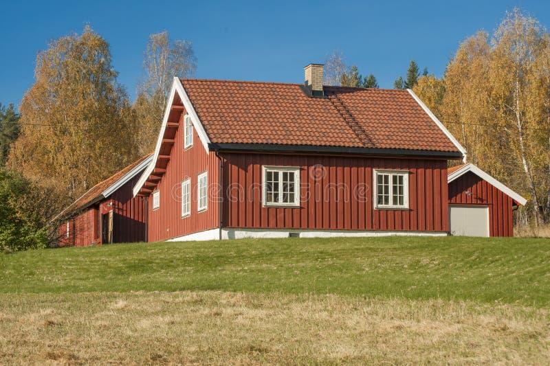 Νορβηγικό ξύλινο σπίτι μέσα στοκ φωτογραφία με δικαίωμα ελεύθερης χρήσης